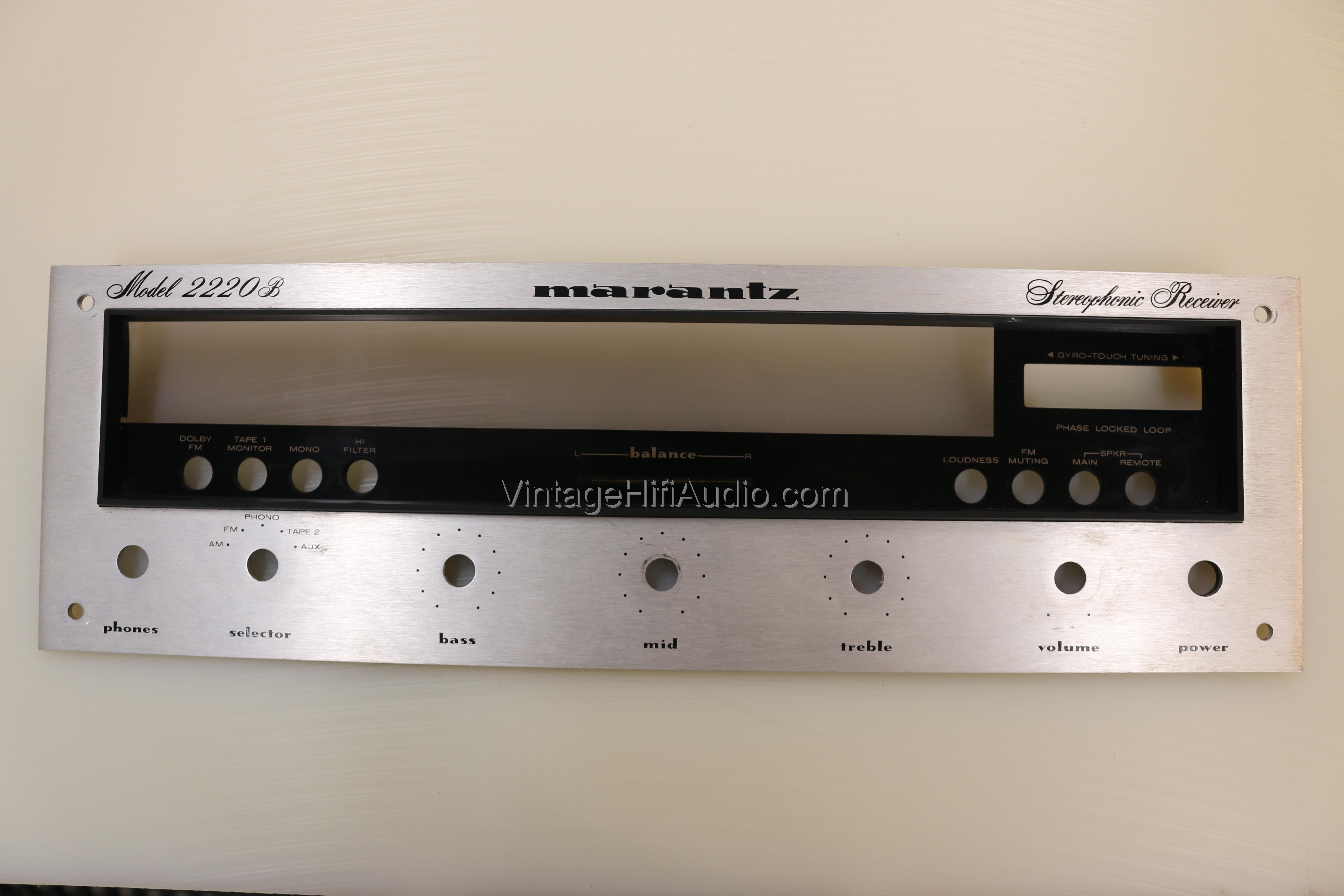 Marantz 2220B faceplate. Lot 2