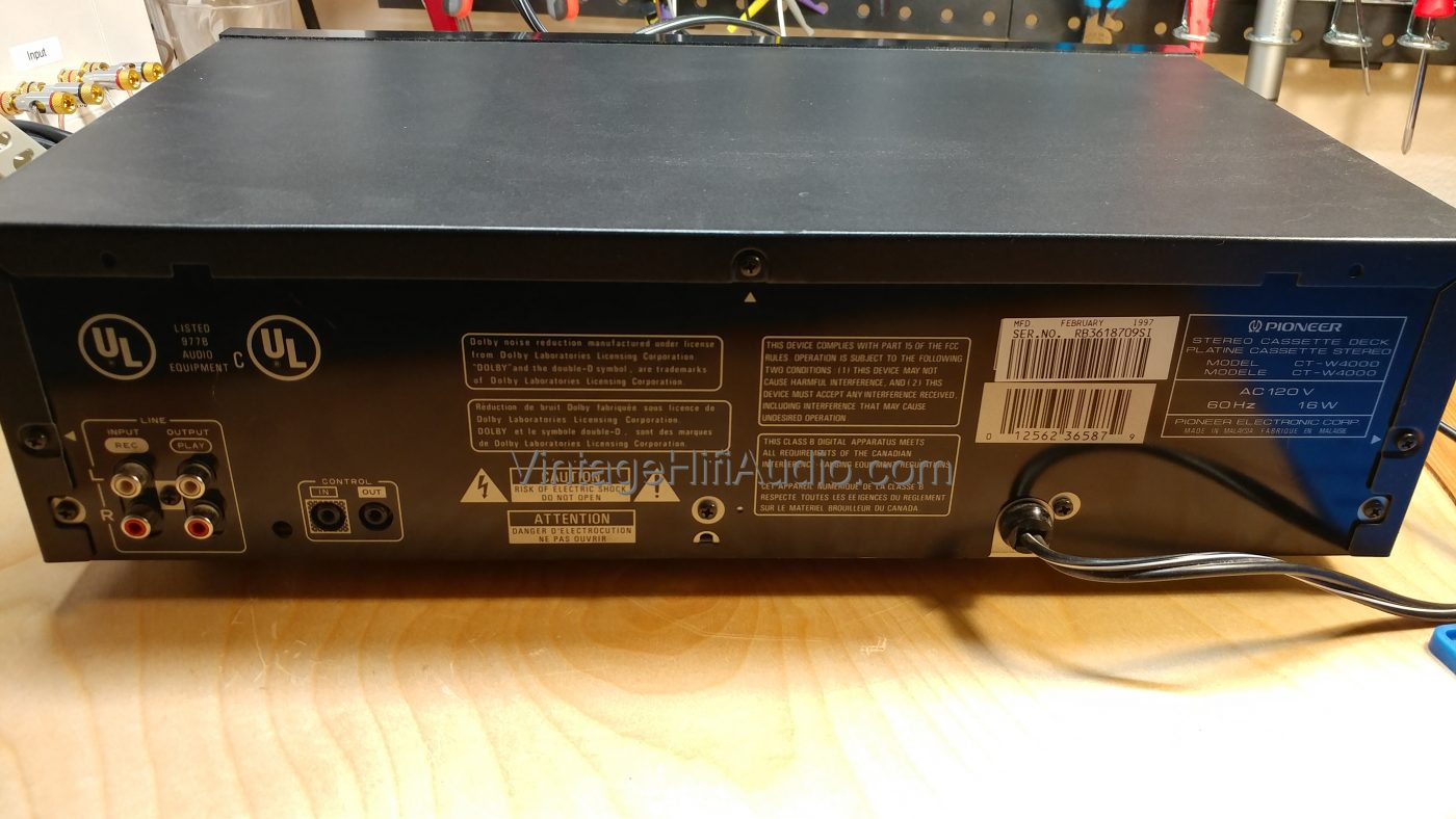 Pioneer CT-W4000 back